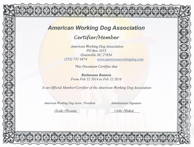 america working dog association