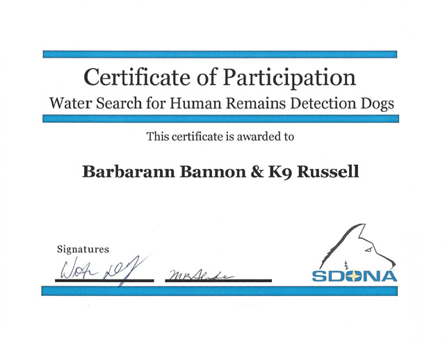 russell water search certification